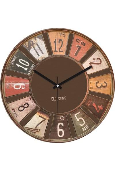 Clocktime By Cadran 30x30 Cm MDF Duvar Saati CTM35
