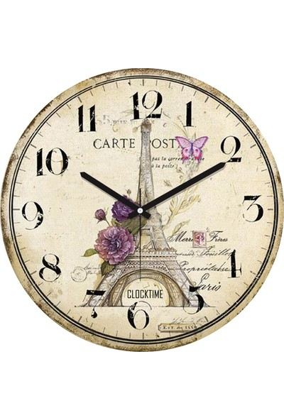 Clocktime By Cadran 30x30 Cm MDF Duvar Saati CTM89