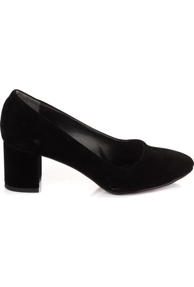 Pembe Potin Siyah Süet Ayakkabı