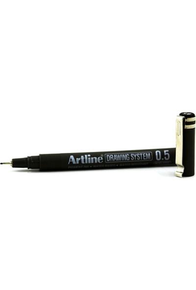 Artline 235 Siyah Çizim Kalemi 0.5
