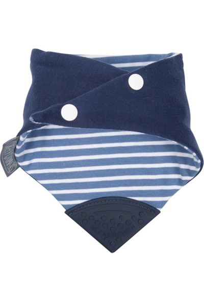 Cheeky Chompers Diş Kaşıyıcılı Fular Önlük (Preppy Stripes)