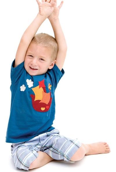 Decaf Plush Gemi Aplike Kısa Kollu T - Shirt