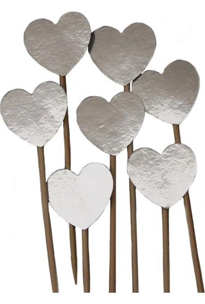 Elitparti Kalp Kürdan Süs Gümüş 10 Adet