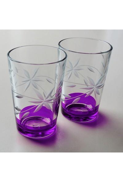 Başak 52052 Glayor Dekor (Mor) Su Bardağı 12 Adet