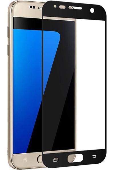 Fujimax Samsung Galaxy A320 A3 2017 3D Kavisleride Kaplayan Renkli Temper Cam