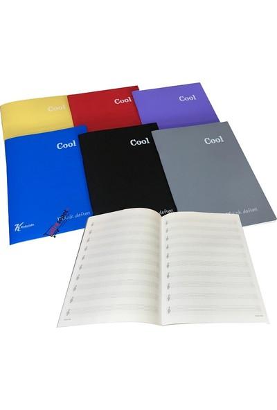 Keskin Color Cool A4 40 Yaprak Plastik Kapak Kareli Müzik Defteri