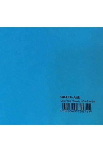 Craft and Arts 35x50 cm 160 gr. Mavi Fon Kartonu (Kağıdı) UCA-210-35 H