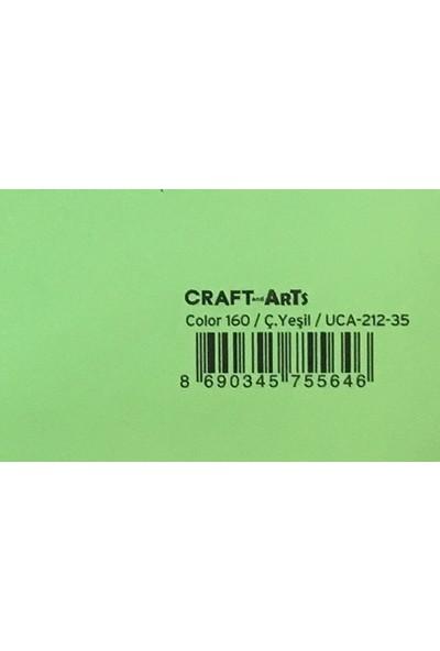 Craft and Arts 35x50 cm 160 gr. C. Yeşil Fon Kartonu (Kağıdı) UCA-212-