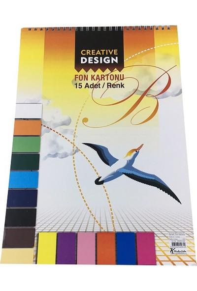 K.Color 25*35 15 Renk Spiralli Fon Kartonu