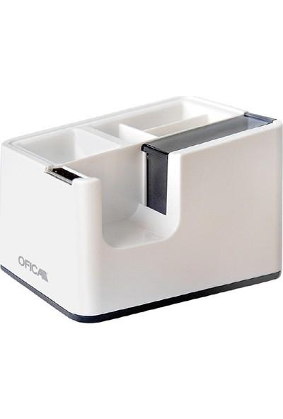 Ofica Modern Dizayn Kalemlikli Bant Makinası Beyaz