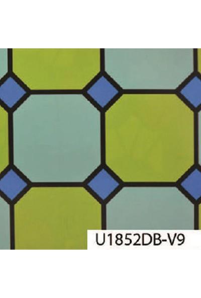 Umix Fıx 2M Vitray Cam - Geometrik Yeşil