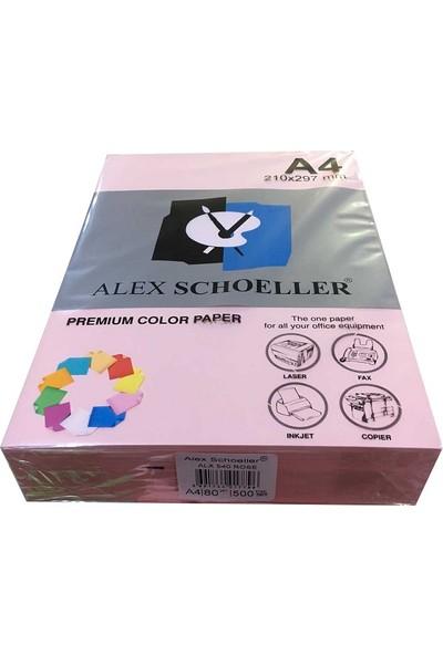 Alex Schoeller A4 Fotokopi Kağıdı 500 lü Açık Pembe (Gül) 540
