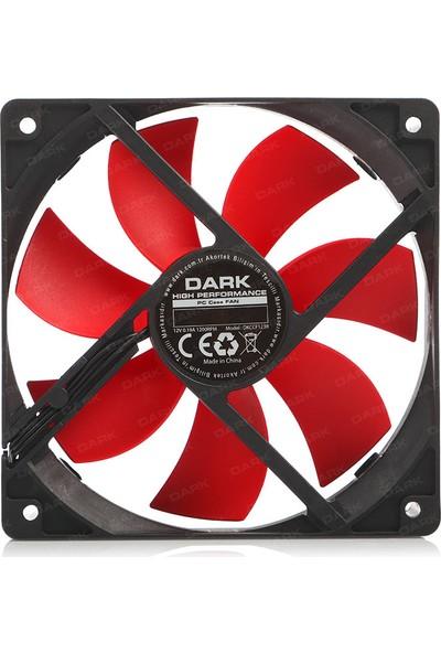 Dark 12cm Kırmızı Kanatlı Kasa Fanı (DKCCF123R)