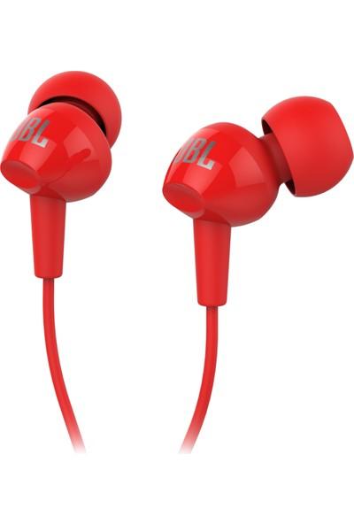 JBL C100SIURED Mikrofonlu Kulakiçi Kulaklık CT IE Kırmızı