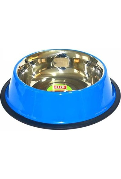 8 Oz. KE-3202P Mat Mavi Çelik Mama Kabı