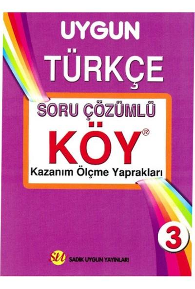 Sadık Uygun Yayınları 3. Sınıf Türkçe Çözümlü Köy Yaprak Test