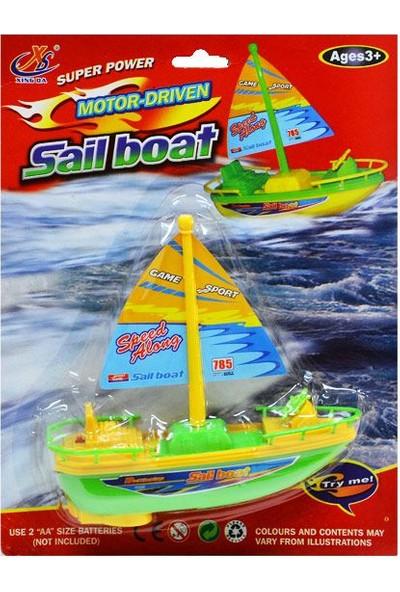 Erkol Oyuncak Kartelada Pilli Yelkenli Tekne