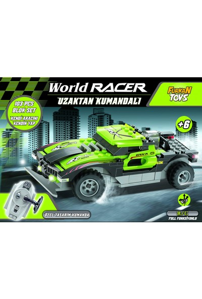 Furkan Toys Rc Uzaktan Kumandalı 116 Parça Blok Set Araç - Yeşil