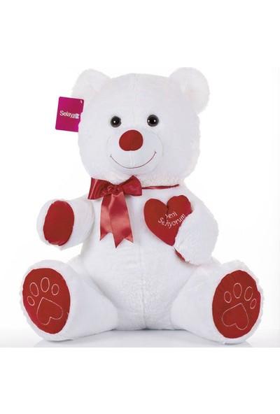 Selay Toys Tıkıl Ayı 65 cm Beyaz 1045B