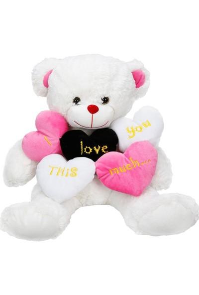 Sunman Pelüş Ayı Oturan 5 Kalpli Aşk Mes Jnh 1009