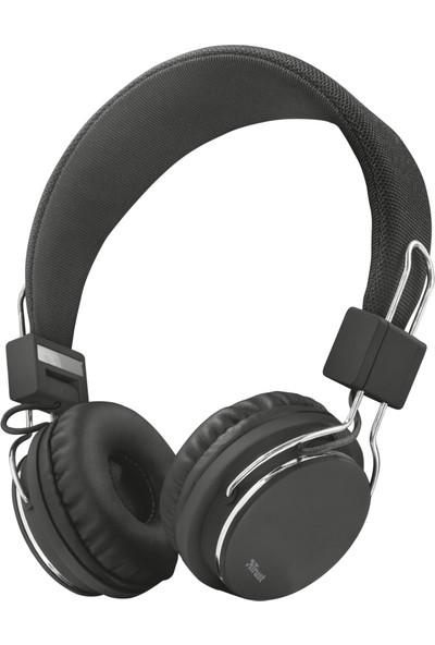 Trust 21821 Ziva Spor Mikrofonlu Kafa Bantlı Kulaklık Siyah