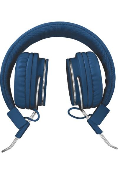 Trust 21823 Ziva Spor Mikrofonlu Kafa Bantlı Kulaklık Mavi