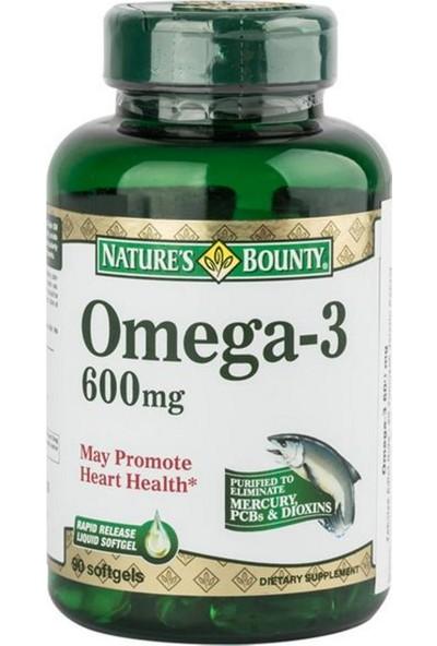Nature's Omega 3 600 mg 90 Softgel