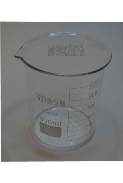 Isotherm Beher Cam Kısa Form 600 Ml