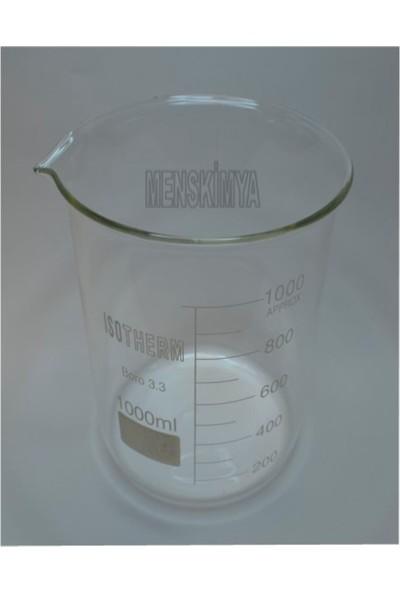 Isotherm Beher Cam Kısa Form 1000 Ml
