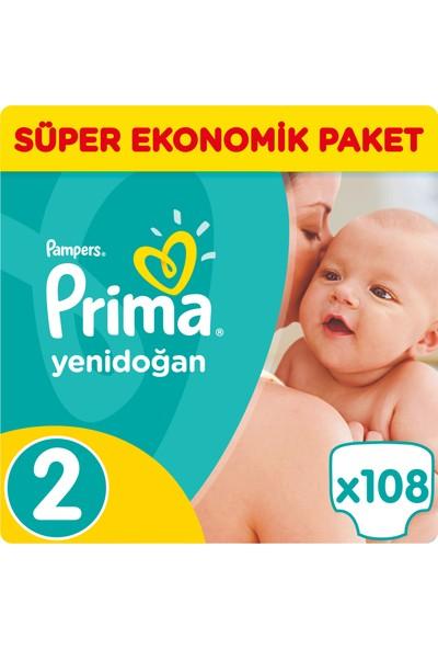 Prima Bebek Bezi Yeni Bebek Süper Ekonomik Paket 2 Beden 108 Adet