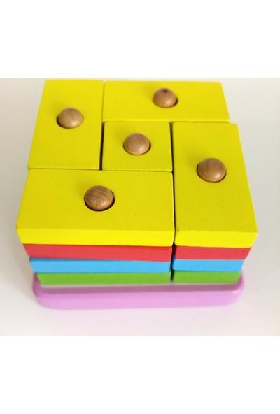 Hdm Eğitici Oyuncak Zeka Oyunu Ahşap Bultak Lego Puzzle