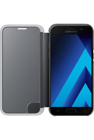 Samsung A5 2017 Clear View Kılıf Siyah - EF-ZA520CBEGWW