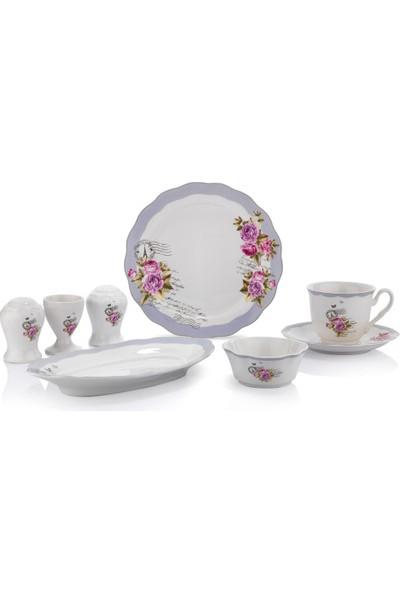 Schafer Joy 32 Parça 6 Kişilik Porselen Kahvaltı Takımı