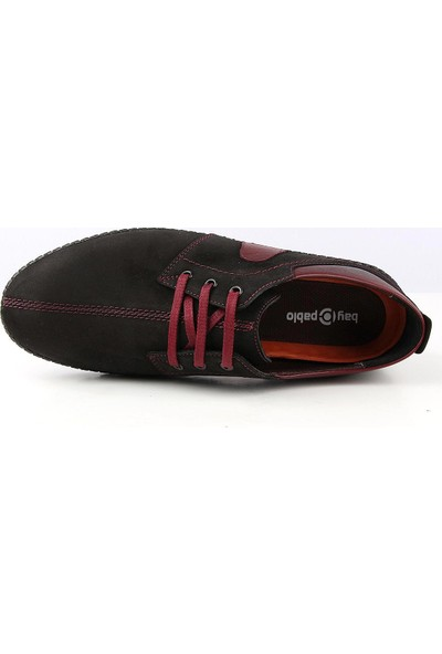 Bay Pablo F20-01 Erkek Ayakkabı Kemer Çorap 3'lü Set