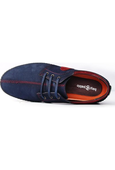 Bay Pablo F20-02 Erkek Ayakkabı Kemer Çorap 3'lü Set
