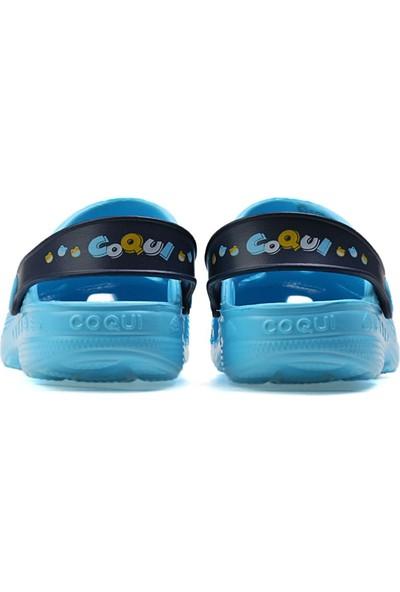 Coqui Mavi Çocuk Terlik 8701-Lıttle-Frog-Blue-Navy