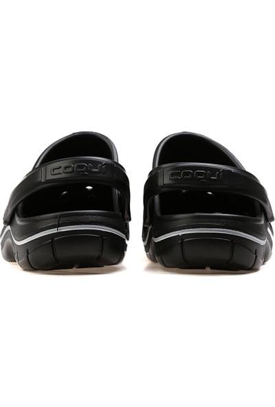 Coqui Erkek Terlik 6351-Jumper-Black-Antracıt