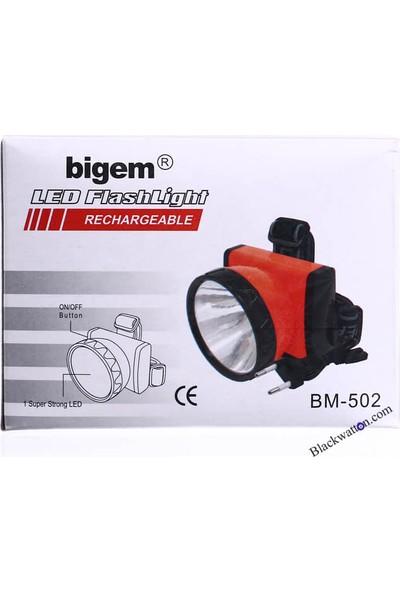 Bigem Bm-502 Şarjlı Kafa Ve Baret Lambası
