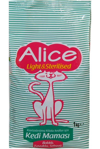 Alice Light&Sterilized Kedi Maması 1 Kg