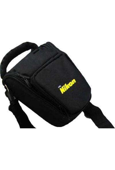 Haskan Nikon D5000 Fotoğraf Makinesi İçin Profesyonel Üçgen Çanta