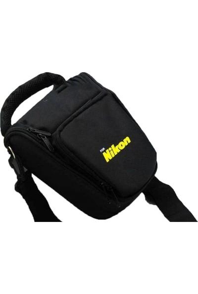 Haskan Nikon D5300 Fotoğraf Makinesi İçin Profesyonel Üçgen Çanta