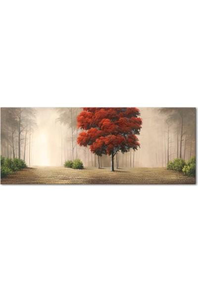 Özverler Kırmızı Ağaç Kanvas Tablo