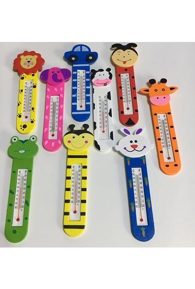 Penna Mıknatıslı Hayvan Figürlü Ahşap Termometre