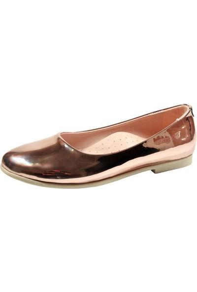 Papşin 271-2053 Bakır Ayna Renkli Kız Çocuk Ayakkabısı