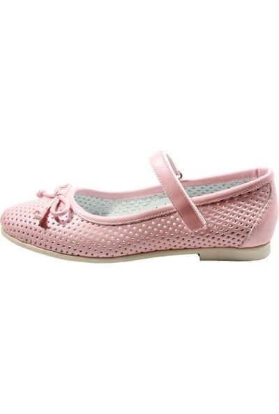 Papşin 271-200 Fiyonk Ve Atkılı Pembe Kız Çocuk Ayakkabısı