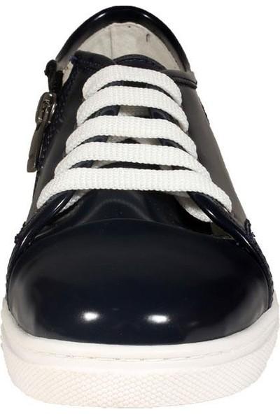 Papşin 271-1620 Fermuarlı Ve Bağlı Lacivert Açma Kız Çocuk Ayakkabısı