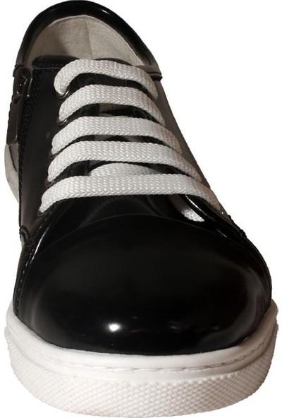 Papşin 271-1620 Fermuarlı Ve Bağlı Siyah Açma Kız Çocuk Ayakkabısı