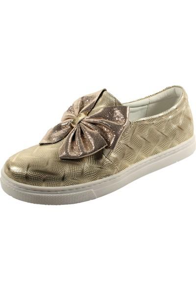 Papşin 271-120 Dore Baskılı Fiyonklu Kız Çocuk Ayakkabısı