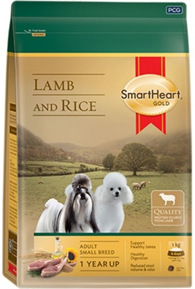 SmartHeart Gold Small Breed Kuzu Etli Köpek Maması 3 Kg