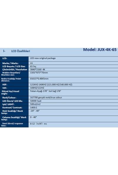 """Jedi 65"""" Akıllı Tahta Windows 10 Pro i3 4GB RAM 128 SSD"""